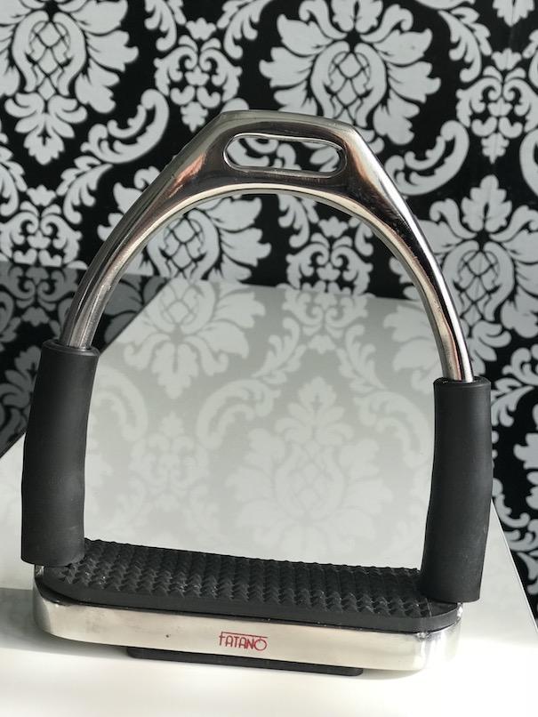 FATANO schwarze Steigbügel Gelenkbügel Sicherheitssteigbügel Bügel Gelenk H1013