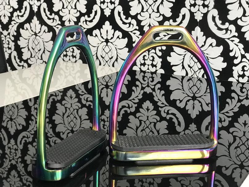 FATANO 12 cm Rainbow Regenbogen Multi-Color Steigbügel Strups H1010