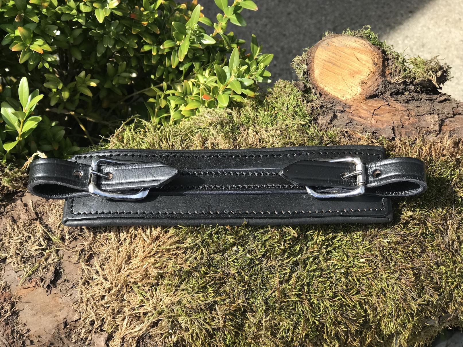 FATANO Nasenriemen für Hackamore und Gebissloses Reiten Leder schwarz 5031