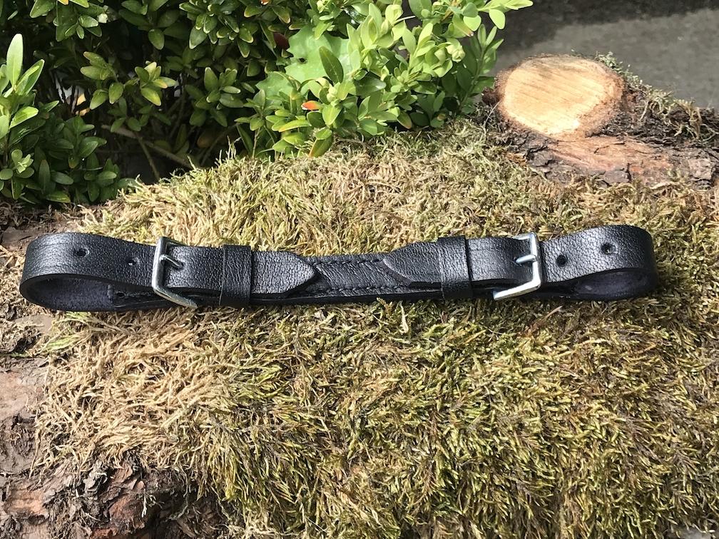 Kinnriemen Leder schwarz Western Pferde Kopfstück Trense Pony COB FULL R374