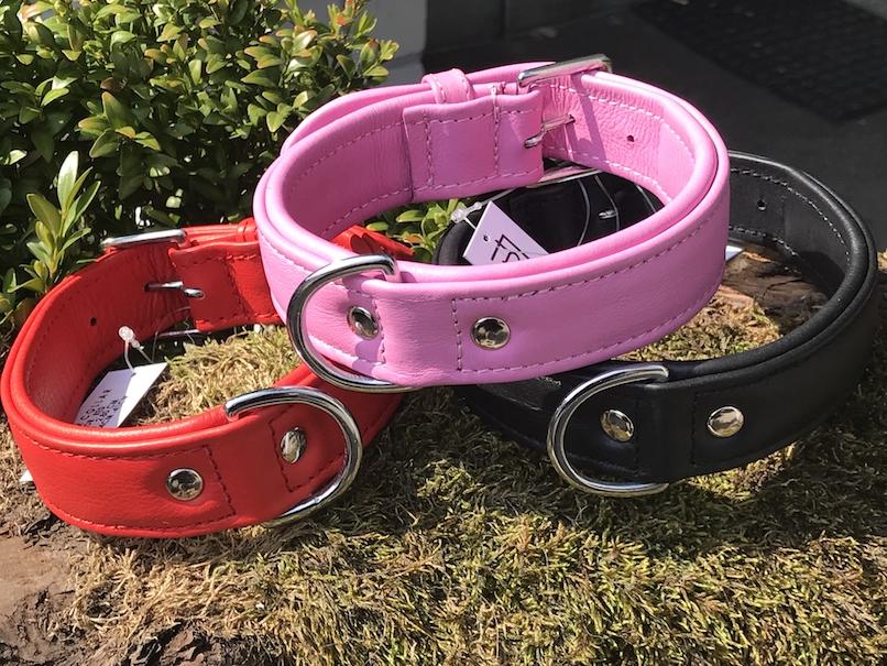 FATANO Hundehalsband Leder 34-52 cm BREIT Halsband Strass Lederhalsband H5000