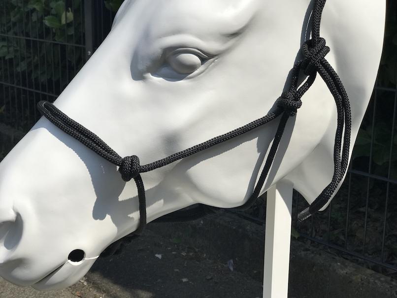 Sidepull Set Reithalfter schwarz Knotenhalfter Side-Pull Pony- Full H4005
