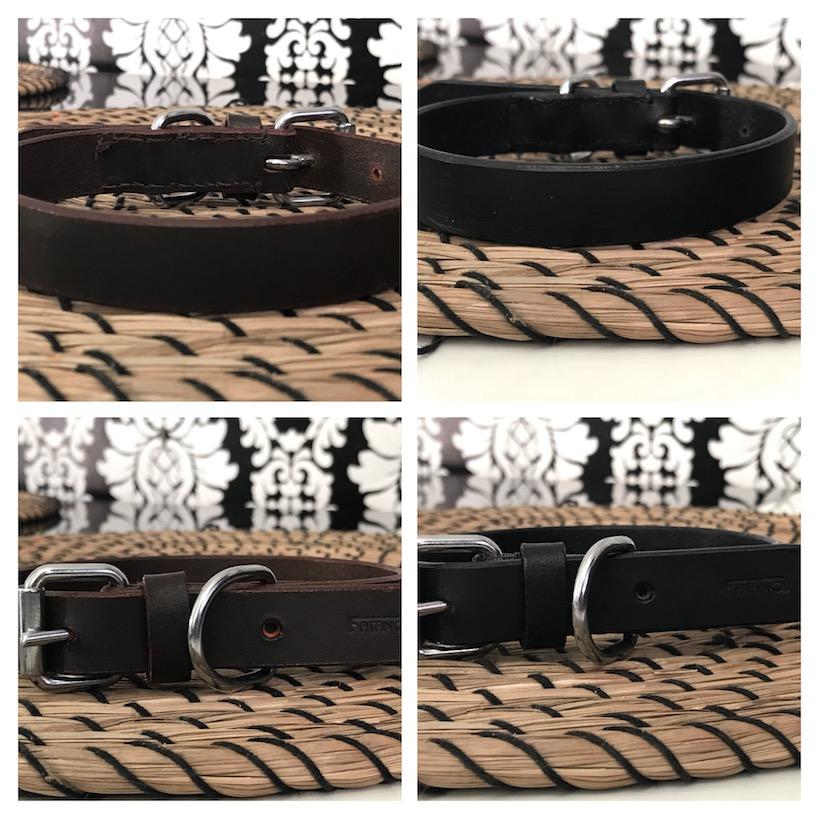 FATANO Leder Halsband Lederhalsband sehr breit schwarz Hundehalsband C13