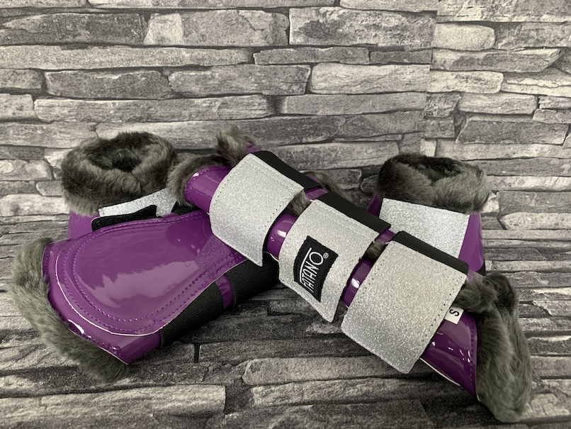Gamaschen QHP Astana Violett